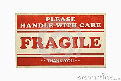Fragile sign.