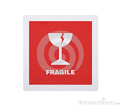 Fragile sticker with clipping path