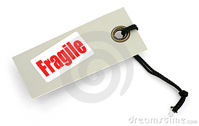 Fragile tag or label