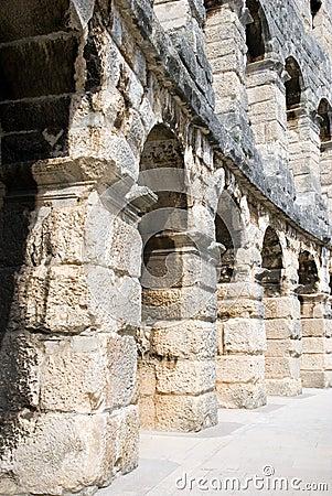 Fragment of Ancient roman amphitheatre Arena