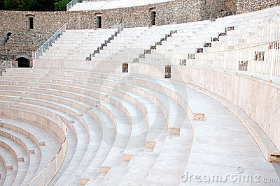 The fragment of ancient theatre