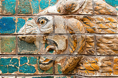 Fragment of the Babylonian Ishtar Gate in the Archaeology Museum