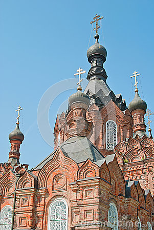 Fragment of a beautiful old church