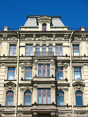 Fragment of a building facade on Nevsky Prospekt
