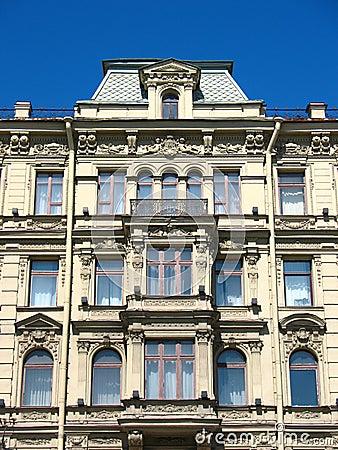 Fragment of a building facade on Nevsky Prospekt