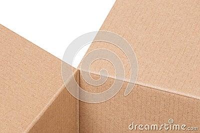 Fragment of a cardboard box