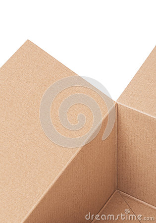 Fragment of a cardboard box