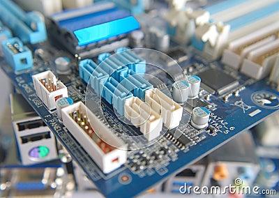 Fragment of computer main board