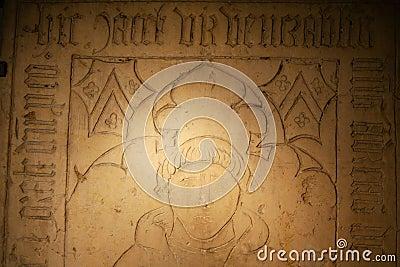 Fragment de tombeau grave