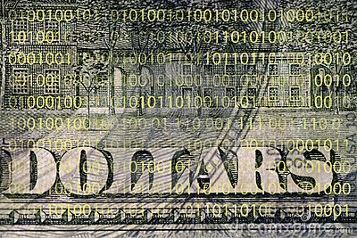 Fragment of a dollar bill