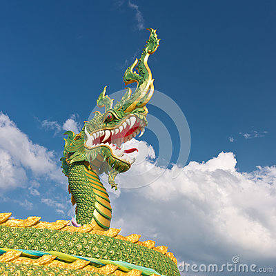 Fragment of dragon statue