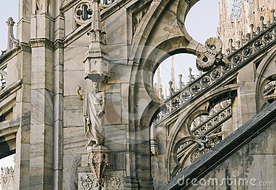Fragment of Duomo Cathedral in Milan