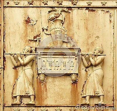 Fragment of Egyptian gate in Pushkin