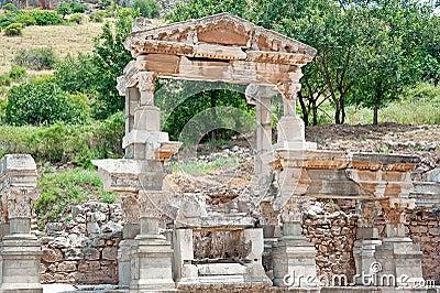 The fragment of Ephesus architecture, Turkey