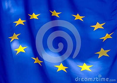 Fragment of the flag of  European Union
