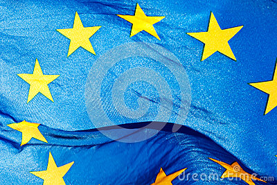 Fragment of the flag of the European Union