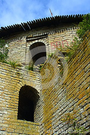A fragment of the fortress wall