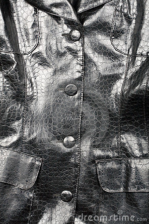 Fragment of leather jacket