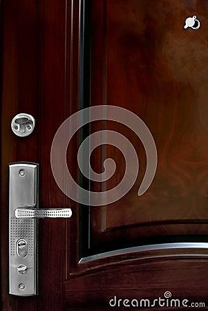 Fragment of a metal door
