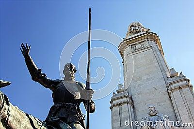 Fragment of Miguel de Cervantes monument