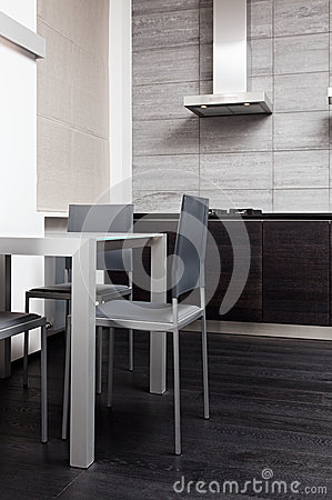 Fragment of modern minimalism style kitchen