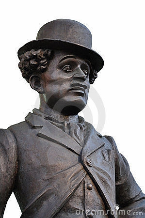 Fragment of the monument to Charlie Chaplin. Editorial Image