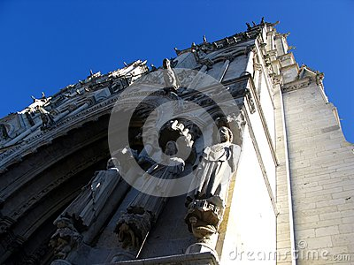Fragment of Notre-Dame in Chartres