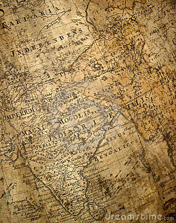Free Fragment Of Ancient Map Stock Image - 1828521