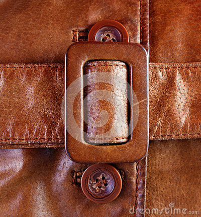 Free Fragment Of Brown Leather Jacket Belt Stock Photography - 28718402