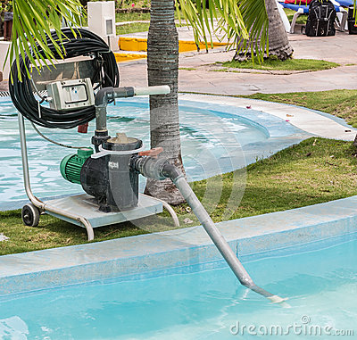 Free Fragment Of View Of Old Technology Electrical Pump For Cleaning Swimming Pool Royalty Free Stock Images - 51946969