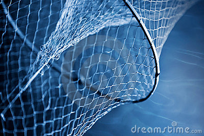 Fragment of an old fishing net
