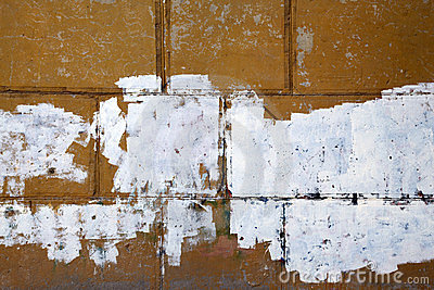 Fragment of old peeling wall