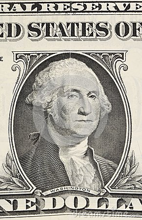 Fragment one dollar banknote