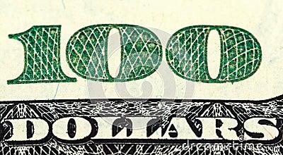 Fragment of  One Hundred Dollar Bill