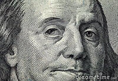 Fragment of one hundred dollars bill