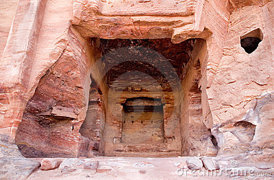 Fragment of Palace Tomb in Petra