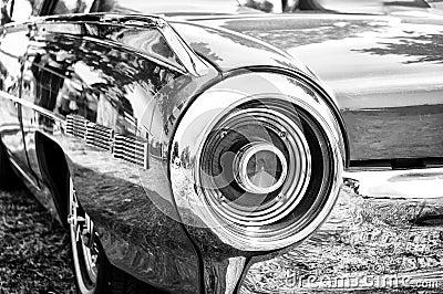A fragment of a retro car
