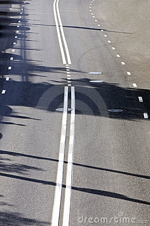 Fragment of the road with road markings