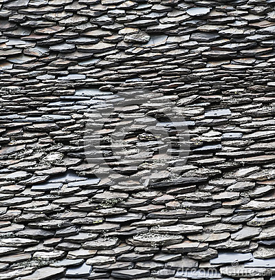 A fragment of stone roof