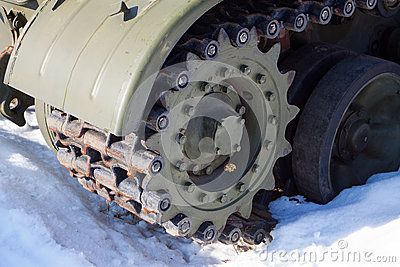 Fragment of tank tracks