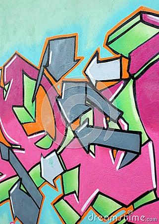 Fragment of urban graffiti