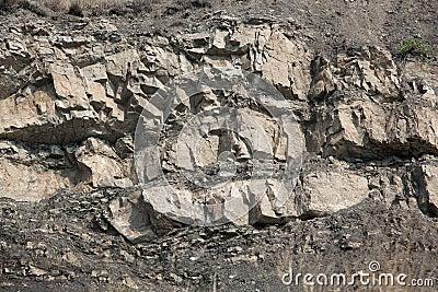 Fragment van rots