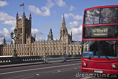 Fragment of  Westminster  Palace Editorial Stock Image