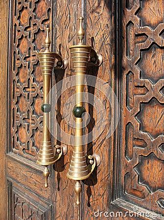 A fragment of a wooden door
