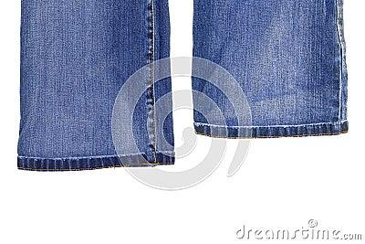 Fragments of denim trousers