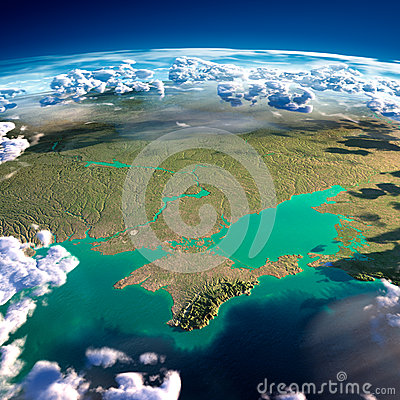 Free Fragments Of The Planet Earth. Black Sea And Crimea Royalty Free Stock Image - 39912076