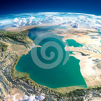Free Fragments Of The Planet Earth. Caspian Sea Stock Photography - 40363332