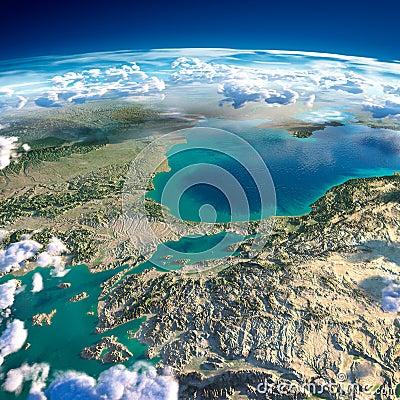 Free Fragments Of The Planet Earth. Turkey. Sea Of Marmara Royalty Free Stock Photo - 40296545