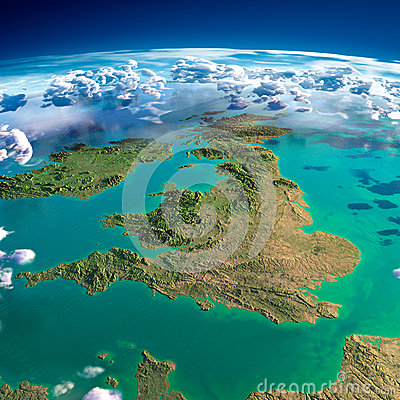 Free Fragments Of The Planet Earth. United Kingdom And Ireland Royalty Free Stock Photos - 40064018