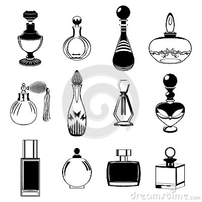 Fragrance bottles collection